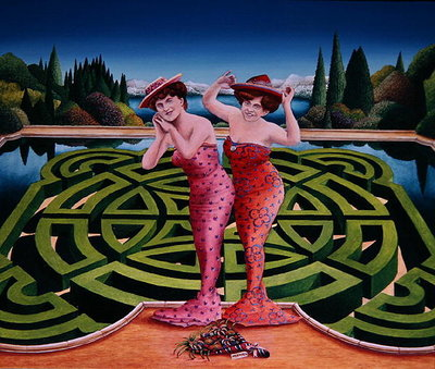 Mermaids, 1992 (acrylic on board) Wall Art & Canvas Prints by Anthony Southcombe