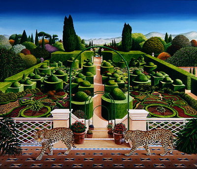 Italian Garden, 1987 (acrylic on board) Wall Art & Canvas Prints by Anthony Southcombe