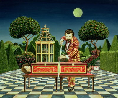 Moonlight Magician, 1979 (acrylic on board) Fine Art Print by Anthony Southcombe