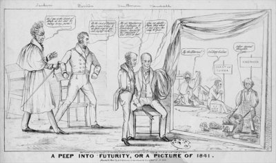 A peep into futurity, or, A picture of 1841, published by M R Robinson, New York, 1838 Fine Art Print by American School