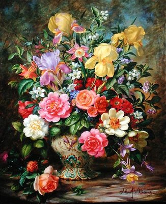 May Flowers, Symbols of Care and Love Fine Art Print by Albert Williams