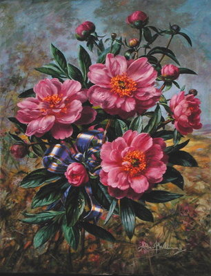 Elizabeth Peony, from the 'Golden Jubilee' series, 2002 Fine Art Print by Albert Williams