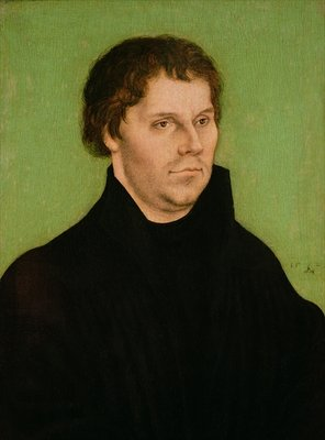 Portrait of Martin Luther, 1525 Postcards, Greetings Cards, Art Prints, Canvas, Framed Pictures, T-shirts & Wall Art by Lucas, the Elder Cranach