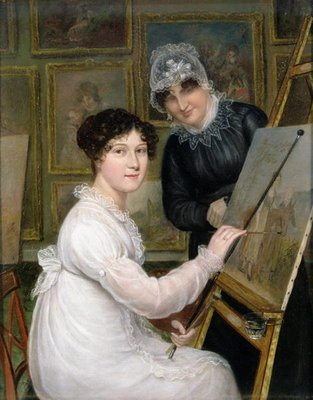 The Artist and her Mother Fine Art Print by Rolinda Sharples