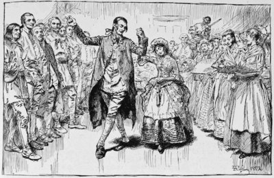 A Kentucky Wedding, illustration from 'Building the Nation' by Charles Carleton Coffin, 1883 (litho) Fine Art Print by Howard Pyle