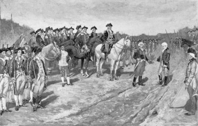 The Surrender of Cornwallis at Yorktown, illustration from 'The Surrender of Cornwallis', pub. in Harper's Weekly, 1881 (litho) Wall Art & Canvas Prints by Howard Pyle