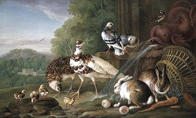 Birds and Rabbits Poster Art Print by Pieter Casteels