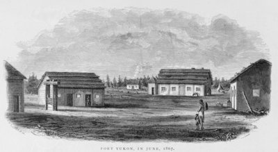Fort Yukon, June 1867, from 'Alaska and its Resources', by William H. Dall, engraved by John Andrew, pub. 1870 (engraving) Wall Art & Canvas Prints by H. W., Elliot