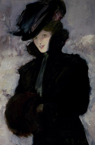 The Fur Coat Poster Art Print by Bessie MacNicol