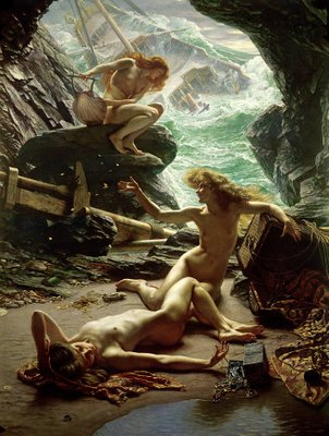 The Cave of the Storm Nymphs, 1903 (oil on canvas) Wall Art & Canvas Prints by Sir Edward John Poynter