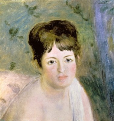 Woman's Head, c.1876 Fine Art Print by Pierre-Auguste Renoir