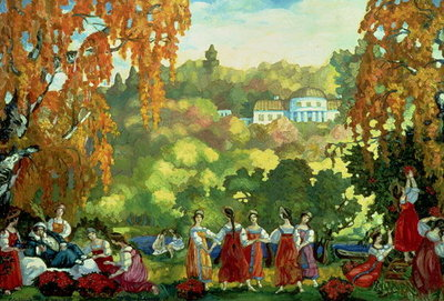 Summery Days in Early Autumn, 1916 Poster Art Print by Sergei Yurevich Sudeikin