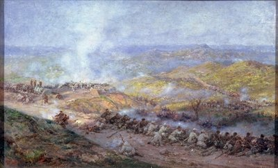 A Scene from the Russo-Turkish War in 1877-78, 1884 (oil on canvas) Postcards, Greetings Cards, Art Prints, Canvas, Framed Pictures, T-shirts & Wall Art by Pawel Kowalewsky