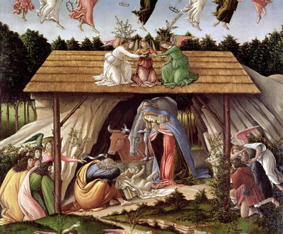 Mystic Nativity, 1500 (oil on canvas) (detail) Wall Art & Canvas Prints by Sandro Botticelli