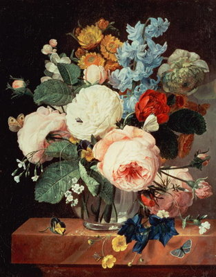 Vase of Flowers on a marble ledge Postcards, Greetings Cards, Art Prints, Canvas, Framed Pictures, T-shirts & Wall Art by T.F. Ehaerts