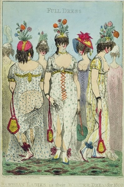 Parisian Ladies in Winter Dresses for 1800, 1799 Fine Art Print by James Gillray
