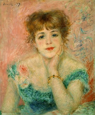 Portrait of the actress Jeanne Samary, 1877 Fine Art Print by Pierre-Auguste Renoir