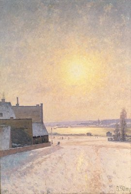 Sun and Snow, Scene from Stockholm Fine Art Print by Per Ekstrom