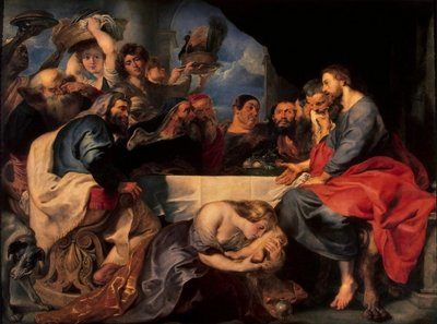 Feast in the house of Simon the Pharisee, c.1620 (oil on canvas) Wall Art & Canvas Prints by Peter Paul Rubens