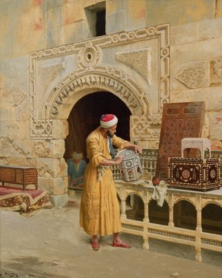 The Furniture Maker Fine Art Print by Ludwig Deutsch