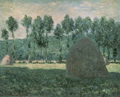 Haystacks near Giverny, c.1884-89 Fine Art Print by Claude Monet