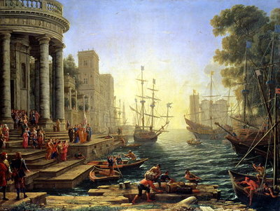Seaport with the Embarkation of St. Ursula Fine Art Print by Claude Lorrain