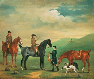 The 4th Lord Craven coursing at Ashdown Park Fine Art Print by James Seymour