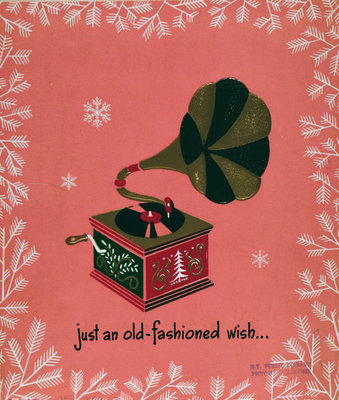 """Just An Old Fashioned Wish"", Christmas card Wall Art & Canvas Prints by English School"