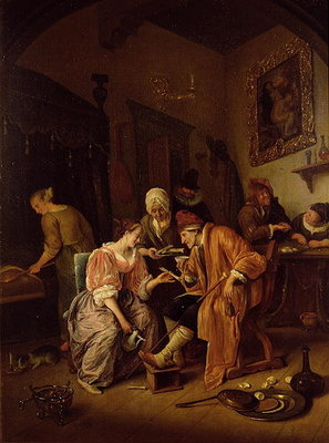 Sick old Man Fine Art Print by Jan Havicksz. Steen