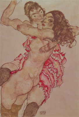 Two Women Embracing, 1915 Fine Art Print by Egon Schiele