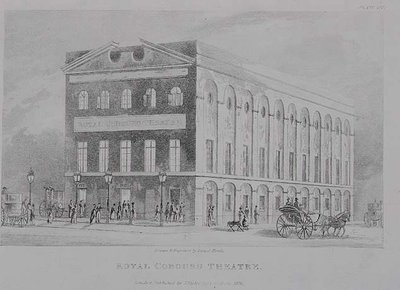 The Royal Coburg Theatre, Surrey, 1826 Fine Art Print by English School