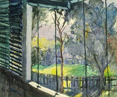 Queensland Verandah, 20th century Fine Art Print by William Grant