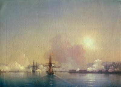 Arrival into Sebastopol Bay, 1852 Postcards, Greetings Cards, Art Prints, Canvas, Framed Pictures & Wall Art by Ivan Konstantinovich Aivazovsky