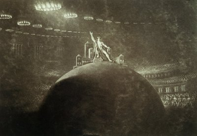 Satan presiding at the Infernal Council, 1824 Poster Art Print by John Martin