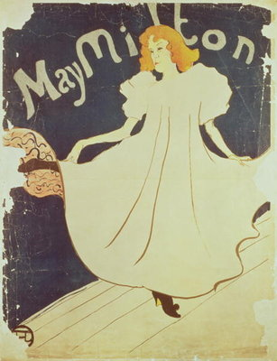 May Milton, France, 1895 Wall Art & Canvas Prints by Henri de Toulouse-Lautrec