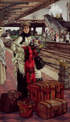 Waiting at the Station, Willesden Junction, c.1874 Fine Art Print by James Jacques Joseph Tissot