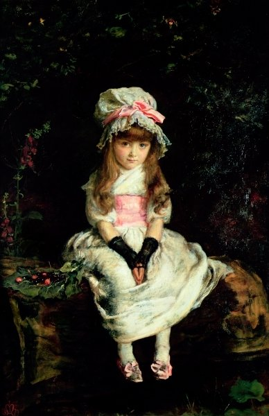 Cherry Ripe, 1879 Fine Art Print by Sir John Everett Millais