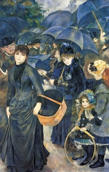 The Umbrellas, c.1881-6 (oil on canvas) Wall Art & Canvas Prints by Pierre Auguste Renoir