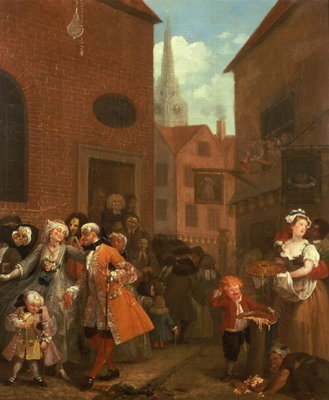 The Four Times of Day: Morning, 1736 Fine Art Print by William Hogarth