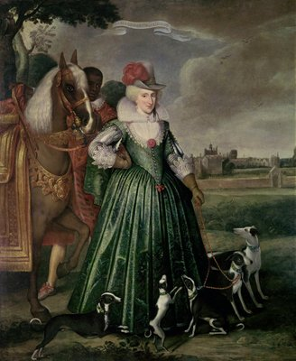 Anne of Denmark, 1617 Wall Art & Canvas Prints by Paul van Somer