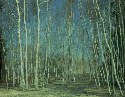 Blue Spring, 1930 Fine Art Print by Vasily Bakscheev