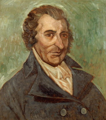 Portrait of Thomas Paine (1737-1809) (oil on canvas) Postcards, Greetings Cards, Art Prints, Canvas, Framed Pictures & Wall Art by A. Easton