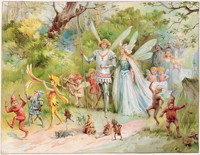 """The Arrival of the King and Queen in Fairyland"" Postcards, Greetings Cards, Art Prints, Canvas, Framed Pictures & Wall Art by Anonymous"