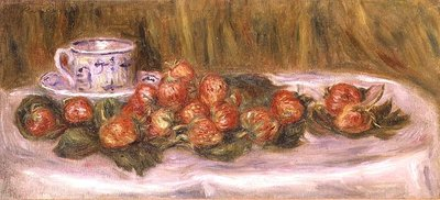 Still Life of Strawberries and a Tea-cup, c.1905 Fine Art Print by Pierre-Auguste Renoir