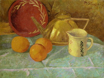 Still Life with Fruit and a Pitcher or Synchronization in Yellow, 1913 Wall Art & Canvas Prints by Paul Serusier