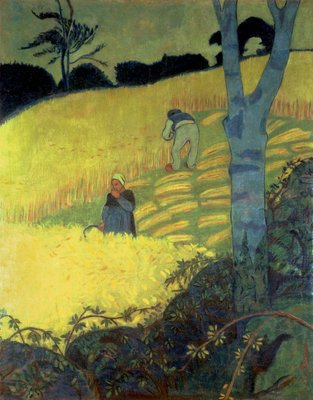 Harvest Scene Poster Art Print by Paul Serusier