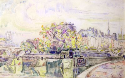 Paris, 1923 (w/c) Wall Art & Canvas Prints by Paul Signac