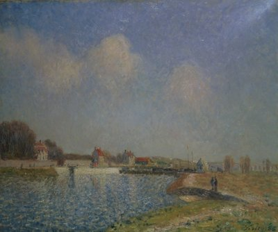 The Loing at Saint-Mammes, 1885 Poster Art Print by Alfred Sisley