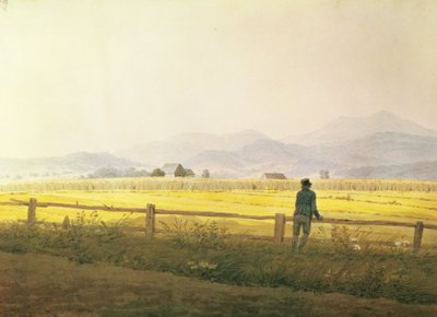 View of Schmiedebergerkamm, c.1837 (w/c on paper) Fine Art Print by Caspar David Friedrich