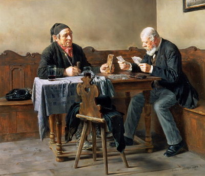 Pay Day, 1887 (oil on panel) Wall Art & Canvas Prints by Anton Muller